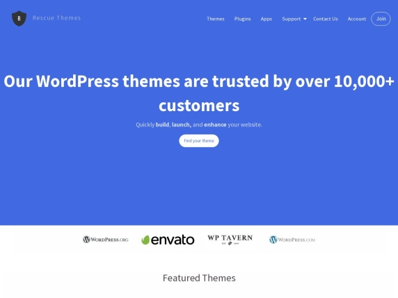 Web de Rescue Themes