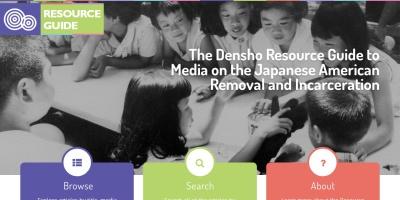 Screenshot of resourceguide.densho.org