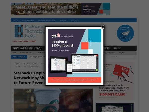 Screenshot of restauranttechnologynews.com