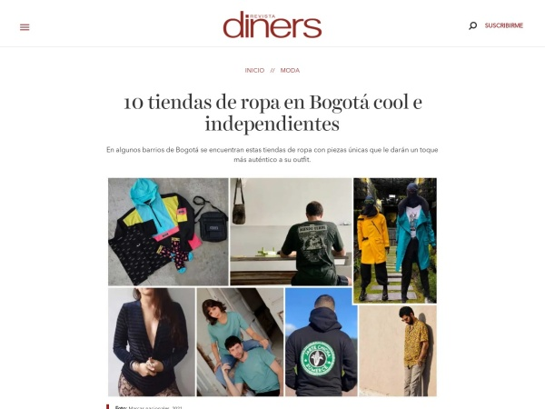 Captura de pantalla de revistadiners.com.co