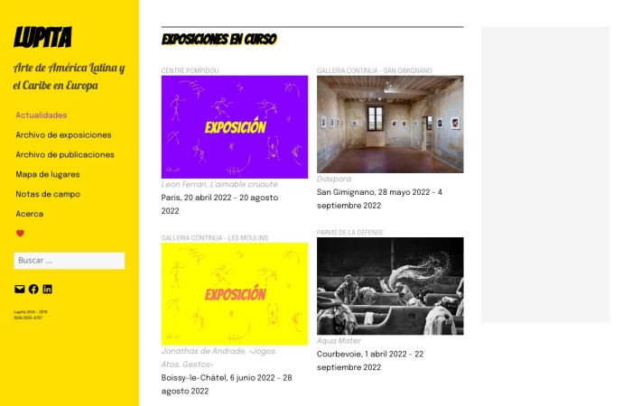 Screenshot of revistalupita.art