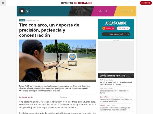 Captura de pantalla de revistas.elheraldo.co
