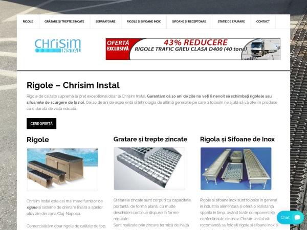 Screenshot of rigoleseparatoare.ro