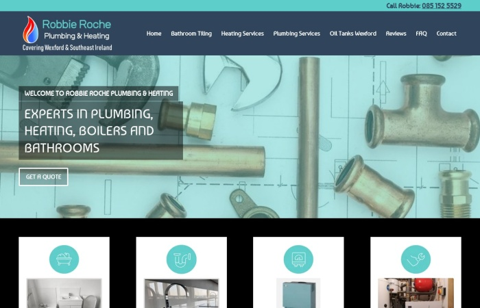 Screenshot of robbierocheplumbing.ie