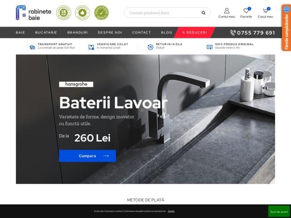 Screenshot of robinetebaie.ro