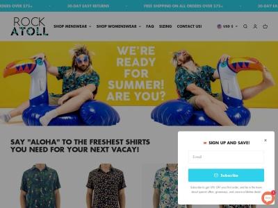 Screenshot of rockatoll.com