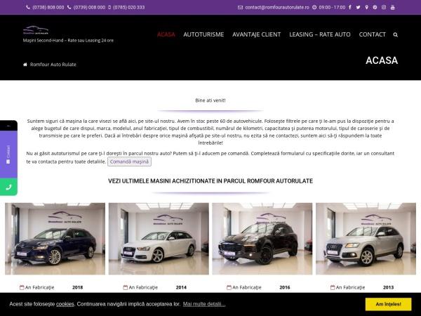Screenshot of romfourautorulate.ro