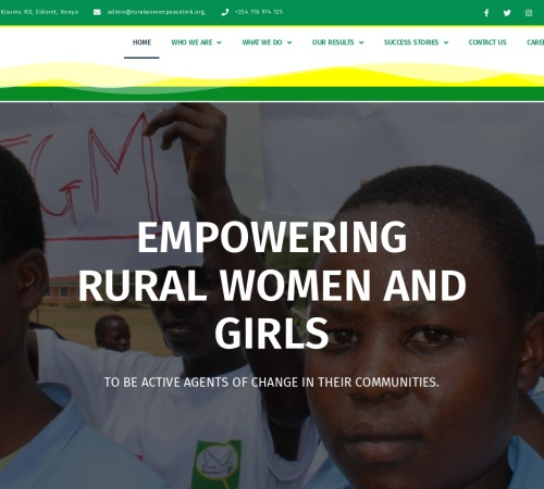 Screenshot of ruralwomenpeacelink.org