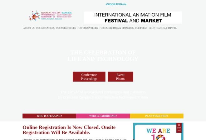 Screenshot of sa2017.siggraph.org