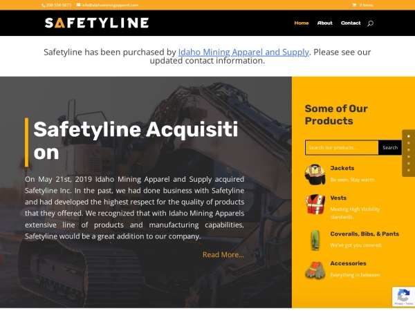 Screenshot of safetyline.com