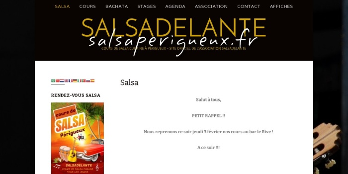 Screenshot of salsaperigueux.fr