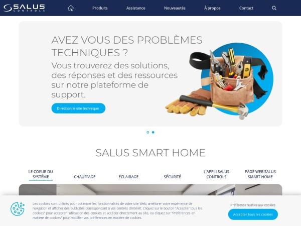 Screenshot of salus-controls.com