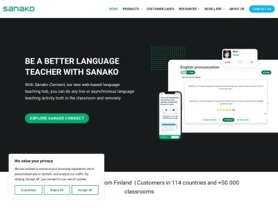 Screenshot of sanako.com