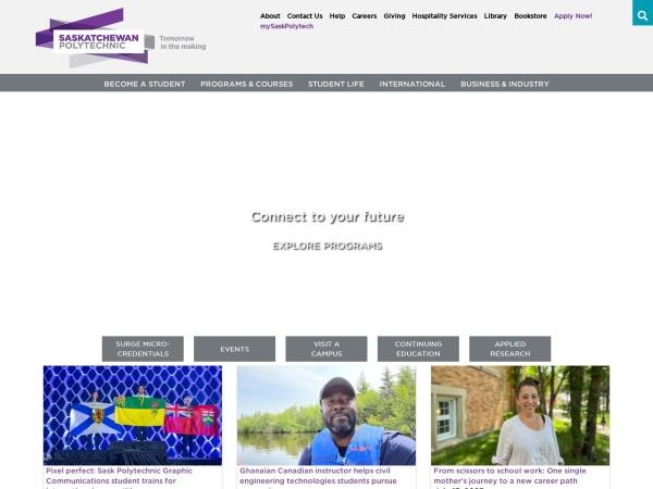 Screenshot of saskpolytech.ca