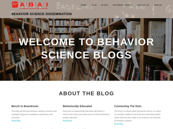 Behavior Science Dissemination Screenshot