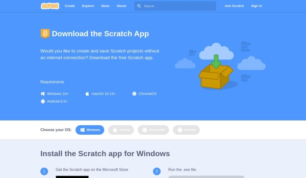 Screenshot of scratch.mit.edu