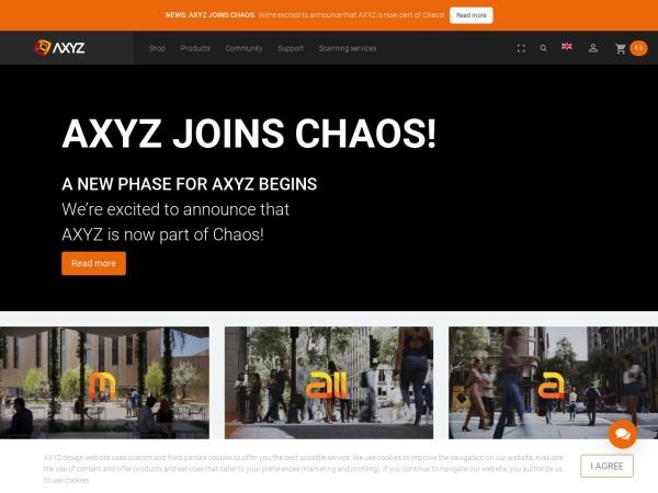 Screenshot of secure.axyz-design.com