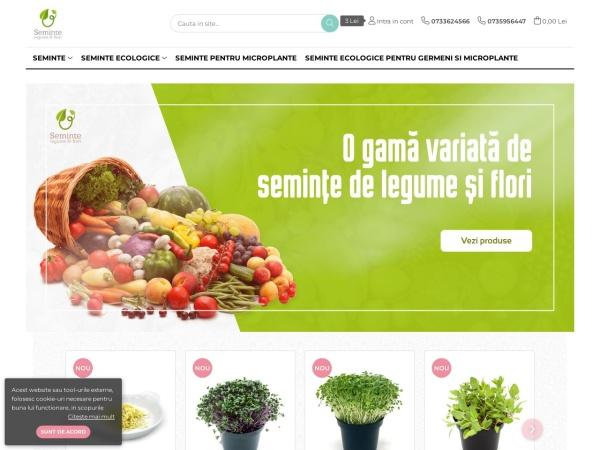 Screenshot of semintelegumeflori.ro