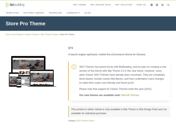 Screenshot of seothemes.com