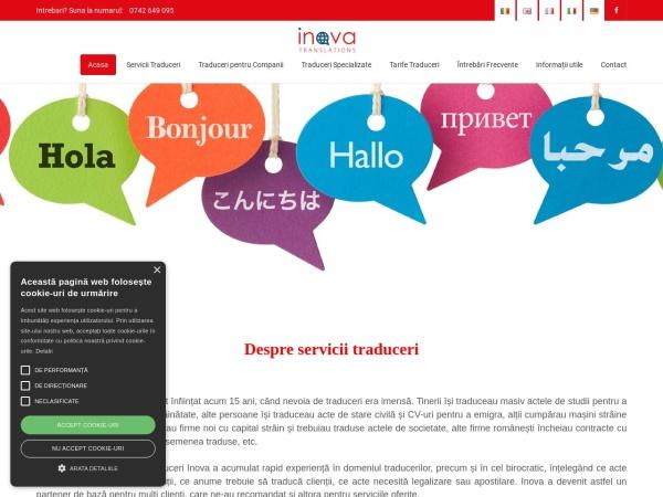 Screenshot of servicii-traduceri.ro