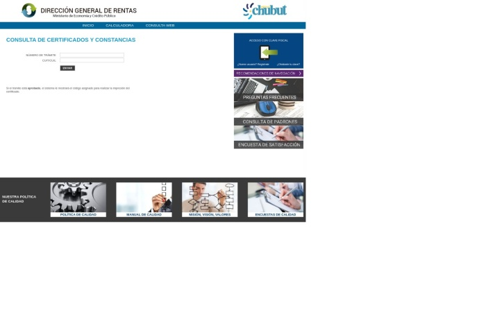 Captura de pantalla de servicios.dgrchubut.gov.ar