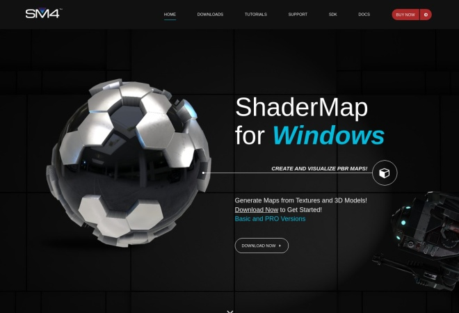 Screenshot of shadermap.com