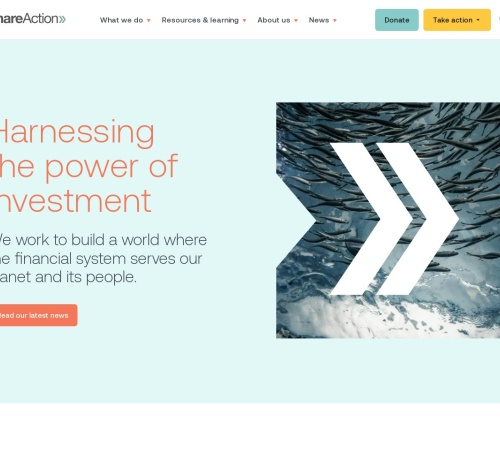 Screenshot of shareaction.org