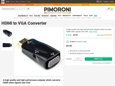 https://shop.pimoroni.com/products/raspberry-pi-hdmi-to-vga-converter