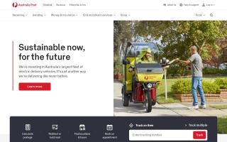Screenshot of shopmate.auspost.com.au