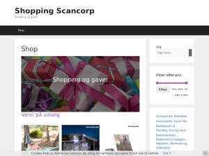 Screenshot of shopping.scancorp.dk