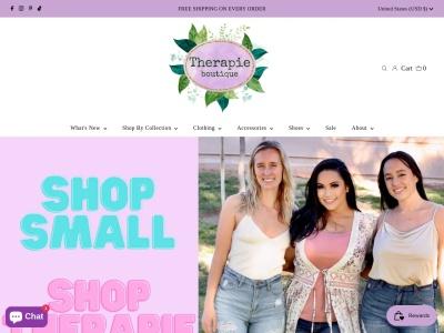 Screenshot of shoptherapie.com