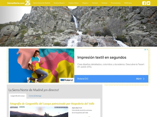 Captura de pantalla de sierranorte.com