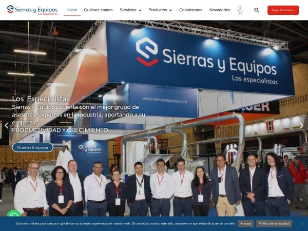Captura de pantalla de sierrasyequipos.com