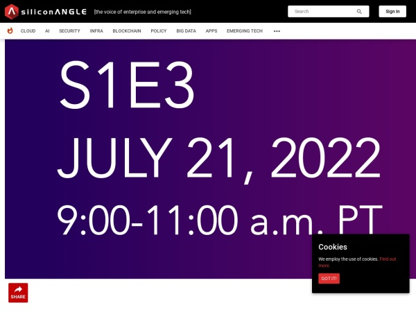 Screenshot of siliconangle.com