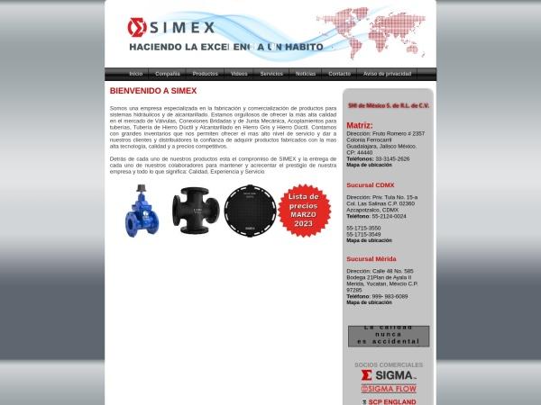 Captura de pantalla de simexco.com.mx