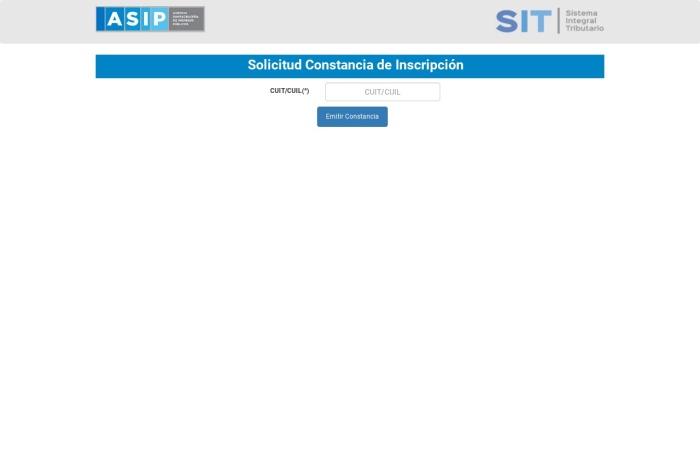 Captura de pantalla de sit.asip.gob.ar
