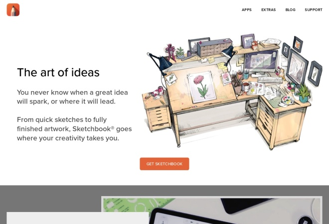 Screenshot of sketchbook.com