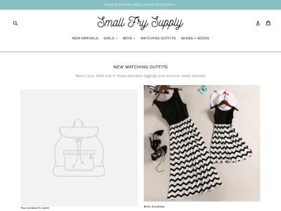 Screenshot of smallfrysupply.com