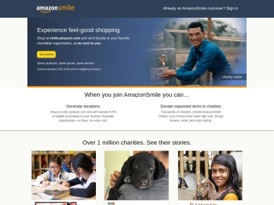Screenshot of smile.amazon.com