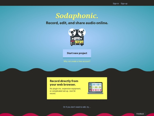 Screenshot of sodaphonic.com