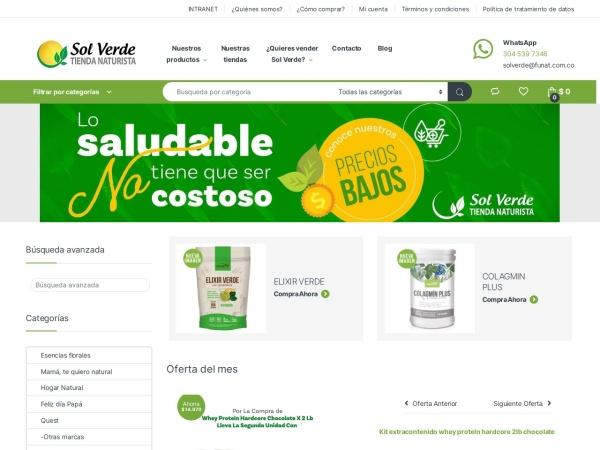 Captura de pantalla de solverde.com.co