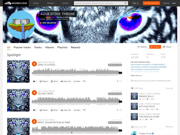 Screenshot of soundcloud.com
