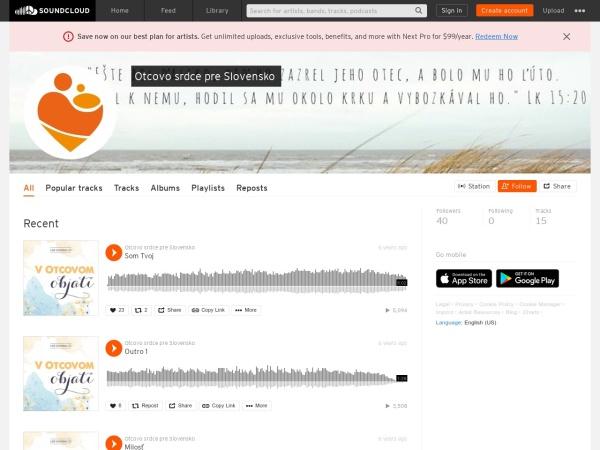 Screenshot of soundcloud.com