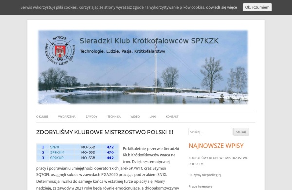 Screenshot of sp7kzk.pzk.pl