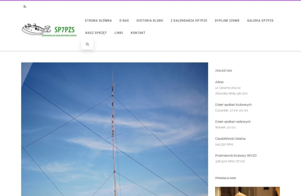 Screenshot of sp7pzs.pzk.pl