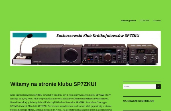 Screenshot of sp7zku.pzk.pl