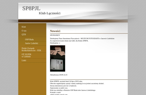 Screenshot of sp8pjl.pzk.pl