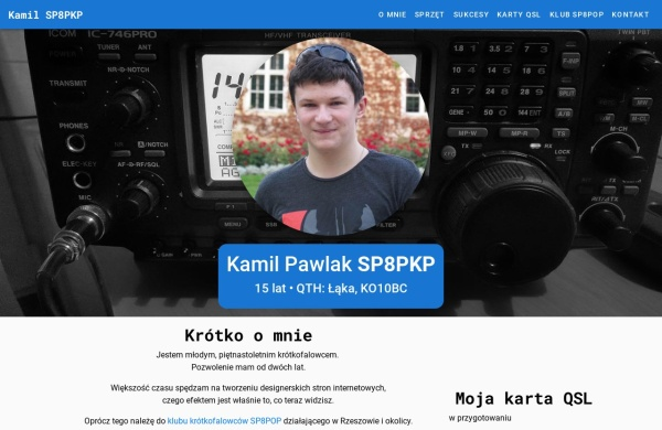 Screenshot of sp8pkp.pzk.pl