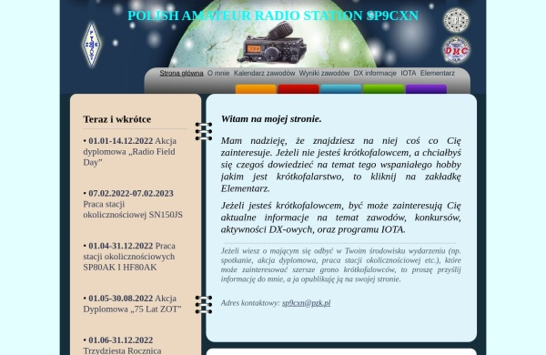 Screenshot of sp9cxn.pzk.pl