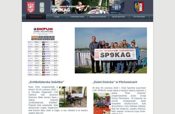 Screenshot of sp9kag.pzk.pl